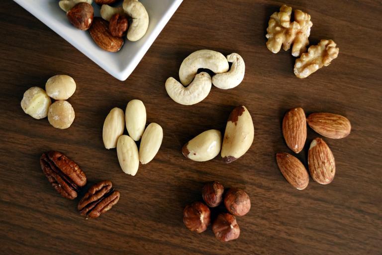 Walnuts, macadamias, and almonds